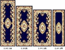 Floor blanket Europäische Simple Home Rechteckige Teppich-Pad für Schlafzimmer, Nacht, Küche, Flur, Aisle-Matte, Teppich, Multicolor Optional ( farbe : A , größe : 1.0*2.0m )