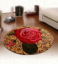 Floor blanket Rund Waschbar Anti-Rutsch-Teppich-Auflage für Badezimmer, Eingang, Badezimmer, Teppich ( farbe : A , größe : 98*98cm )