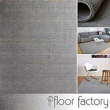 floor factory Gabbeh Teppich Karma grau 80x150 cm