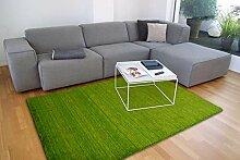 floor factory Gabbeh Teppich Karma grün 200x200