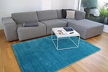 floor factory Gabbeh Teppich Karma türkis blau
