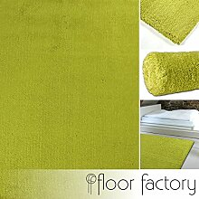 floor factory Hochflor Shaggy Teppich Cosy avocado 80x150 cm in 13 Farben und 5 Größen