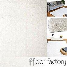 floor factory Hochflor Shaggy Teppich Pearl weiß