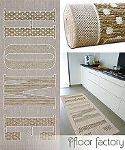 floor factory Läufer Home beige 80x200 cm -