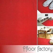 floor factory Moderner Baumwoll Teppich Living rot