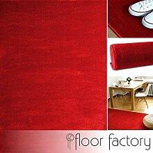 floor factory Moderner Teppich Kolibri rot
