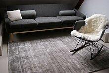 floor factory Moderner Teppich Lounge grau