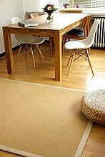 floor factory Sisal Teppich Beige 160x230 cm 100%