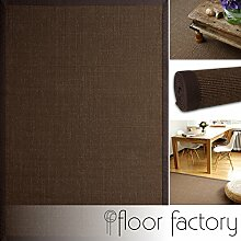 floor factory Sisal Teppich Coffee braun 160x230