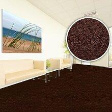Floori® Comfort Teppichfliesen Nadelfilz - braun - selbstklebend