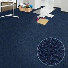 Floori® Comfort Teppichfliesen Nadelfilz - dunkelblau - selbstklebend