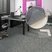 Floori® Comfort Teppichfliesen Nadelfilz - grau - selbstklebend