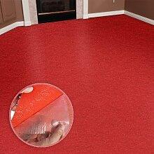 Floori® Comfort Teppichfliesen Nadelfilz - rot - selbstklebend