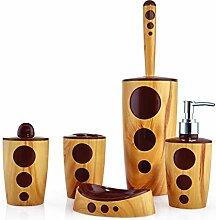 Flora & Flosoft Punto Holz Look Badezimmer Set,