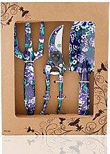 FLORA GUARD Gartengeräte,-3 Stück Garten Werkzeug Set K768 (Lila)