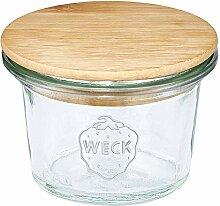 FloraCura WECK Vorratsglas 35ml mit Holzdeckel