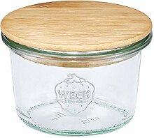 FloraCura WECK Vorratsglas 80ml mit Holzdeckel