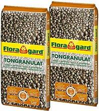 Floragard Blähton Tongranulat zur Drainage 2x5 L