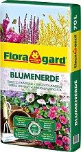 Floragard Blumenerde, 1x70 Liter 70 l braun