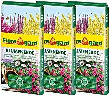 Floragard Blumenerde 3x20 L - Universalerde für