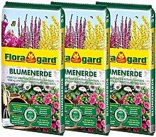 Floragard Blumenerde 3x5 L - für Balkon-, Kübel-