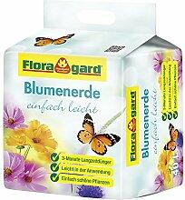 Floragard Blumenerde mit Langzeitdünger einfach leicht 2x70l