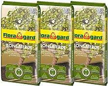 Floragard Bonsaierde 3x5L - Spezialerde für