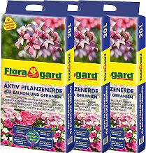 Floragard Geranienerde Aktiv Pflanzenerde, für