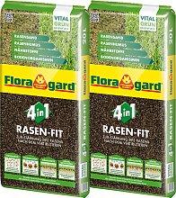 Floragard Pflanzendünger 4 in 1 Rasenfit, je 20 l