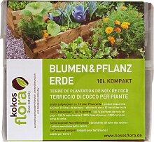 Floragard Pflanzerde Kokosflora Blumen- u. 10L mit