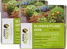 Floragard Pflanzerde Kokosflora, kompakt, 2x10