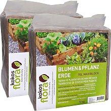 Floragard Pflanzerde Kokosflora, Maxi Block ergibt
