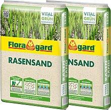Floragard Quarzsand Rasensand, 2x15 Kg 15 kg weiß