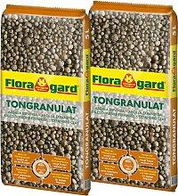 Floragard Tongranulat, 2x5 Liter 5 l braun