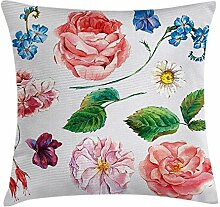 Floral Decor Throw Pillow Cushion Cover, Bouquet