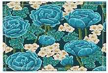 Floral Flower Decor Türkis Aquarell Rose in