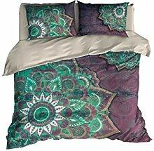 Floral Mandala Betten, Bohemian Bettbezug Set by