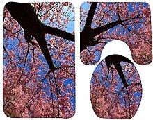 Floral Pattern 3 Stück Bad Zubehör Set Badematte Contour Teppich WC Deckel Abdeckung , 3