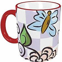 Floral Seamless-Kaffeetasse 11 Unzen Keramik-Becher