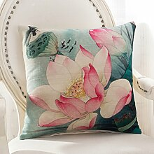 Floral Sofa Pillow,Pillow Cases With Core,Waist Cushion Of Office Waist-F 45x45cm(18x18inch)VersionB