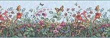 Floral Tapete Bordüre