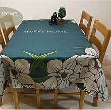 Floral Tischdecke Baumwolle Bettwäsche–memorecool Haustierhaus Einzigartiges Design gut für Home Decor Küche etc.. Rechteck 99,1x 139,7cm, baumwolle, flower2, 39x55inch