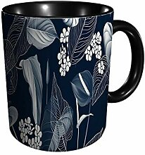 Floralanthurium Becher mit Blumen und Blättern in