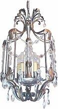 Florentiner Vintage Leuchte aus Kristallglas &
