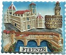 Florenz Italien 3D Firenze Kühlschrankmagnet