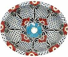Floresa - Mexikanisches Ovales Waschbecken | Oval