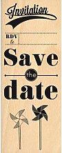 florilèges Design fg214085Stempel Scrapbooking Save the Datum beige 15x 6x 2,5cm