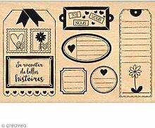 florilèges Design fha115078Stempel Scrapbooking Etiketten Pflanze schwarz 10x 15x 2,5cm