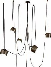 Flos Aim Pendelleuchte Set 5 LED Braun (b) 24.3 X