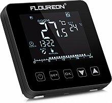 Floureon Digital Raumthermostat Thermostat elektrische Heizung Touchscreen Programmierbare Wandthermostat mit großen LCD-Display Temperaturregler Fußbodenheizung